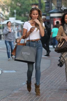 chrissy teigen high rise jeans