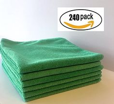 Extra Heavy Durable Microfiber Cleaning Cloth, Bar Mop in inch, lint free streak free Super Absorbent for kitchen or automotive Clean Your Car, Kitchen On A Budget, Car Cleaning, Household, Bar, Clothes, Amazon, Free, Products