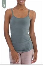 Long Speghetti Tank with Bra (586, Juniper) by Hard Tail Forever