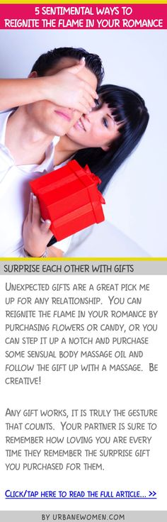 5 sentimental ways to reignite the flame in your romance - Surprise each other with gifts