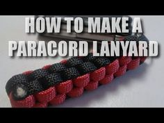 [Paracord] How to Make a Paracord Lanyard with the Square Weave - YouTube (Hansboy)