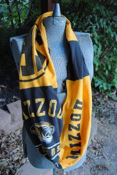 Mizzou SEC Upcycled TShirt Infinity Scarf by SeasonedWithStyle, $13.00