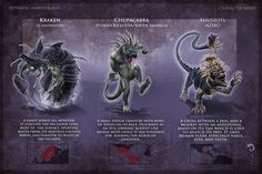 Monsters 12 - Kraken-Chupacbra-Ahuizolt v01.jpg