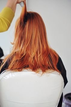 Amazing hair color...wonder if I can pull the lighter red?  For summer maybe?