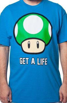 Super Mario Bros. Get A Life T-Shirt - Gamer T-Shirt