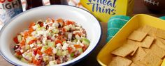 Greek Salsa with WHEAT THINS  - Delish.com