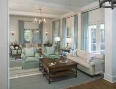 Great Room - traditional - living room - charleston - Christopher A Rose AIA, ASID