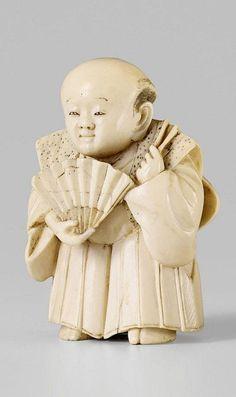 A Tokyo school ivory netsuke of Fukusuke. Late 19th century