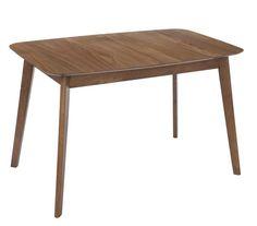 Mesa de comedor extensible, elaborada en madera de caucho y dm. Una excelente opción para el salón comedor. Esta mesa rectangular con puntas redondeadas fabricada en madera de caucho y d