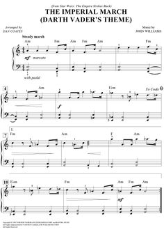 The Imperial March (Darth Vader's Theme) (Easy Piano) Sheet Music Preview Page 1