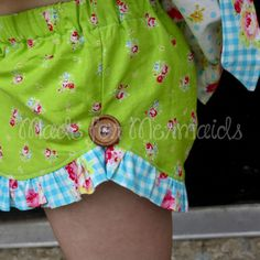 "Made for Mermaids ""Lucy Ruffle Shorts"" Sewing PDF Pattern www.madeformermaids.com"