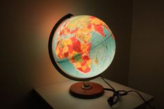 Vintage illuminate Globe Lamp By Replogle World Horizon Series // Made In USA  //Cute lamp idea for Nursery