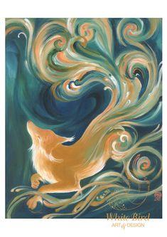GICLÉE PRINT: Fox Spirit (A3 size, Archival Print). $45.00, via Etsy.