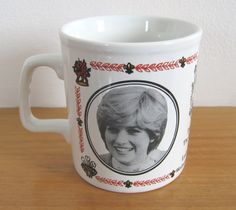 Royal Wedding (Prince Charles and Lady Diana Spencer, 1981) commemorative mug by Kiln Craft English Ironstone (SOLD) - www.vanishederas.com
