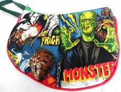 Horror Monsters Clutch Ready to Ship by BrookeVanGoryDesigns, $36.99