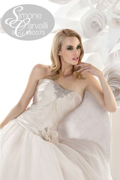 Simone Carvalli fall 2011 wedding gown, style #90073 #strapless #timeless #satin