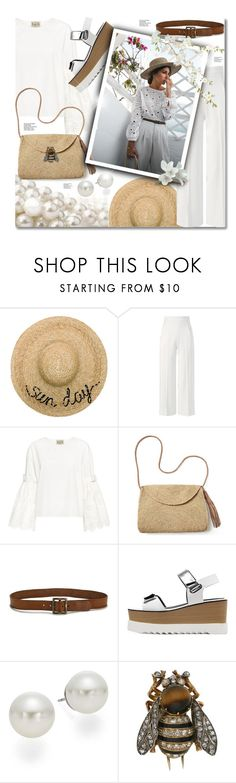 """Summer in white tones"" by elona-makavelli ❤ liked on Polyvore featuring Eugenia Kim, Roland Mouret, Sea, New York, Mar y Sol, Paige Denim and AK Anne Klein"