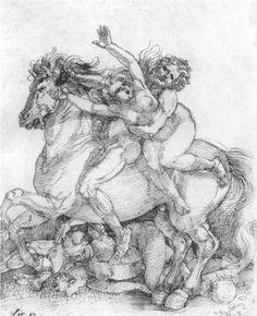 """""""Abduction"""" (""""Frauenraub"""")      Artist: Albrecht Durer    Style: Northern Renaissance"""