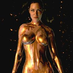 """Concept art of Grendel's Mother, affectionately called """"mom"""" by the film's designers (digitally portrayed by Angelina Jolie) in the 2007 version. Lovely above, rotting sesspool of hate below."""