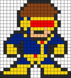 Jim Lee Cyclops Perler Pattern Perler Bead Pattern   Bead Sprites   Characters Fuse Bead Patterns