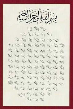 The Beautiful Names of Allah (Asmaul Husna). #Allahnames #Asmaulhusna #99namesofallah #islamic