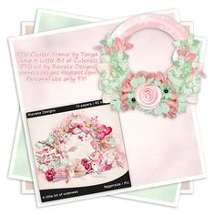 Tonya's Temptations: • CT Tag and Cluster Frame Freebie ~ A Little Bit of Cuteness •