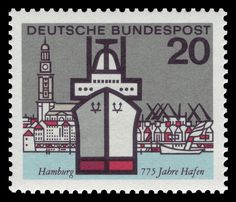 Series capital cities of the states of Germany Graphics by H. und Heinz Schillinger First Day of Issue: 6. Mai 1964