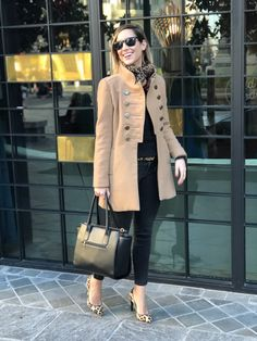 Fitness And Chicness-Black Camel and Animal Print Black Camel, Fitness, Dior, Style Inspiration, Beige, Animal, Chic, Casual, Jackets