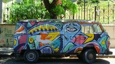 Buenos Aires street art tours and the latest graffiti news from Argentina Graffiti, Volkswagen, Street Art, Van, Buses, Octopus, Trains, Graphics, Buenos Aires