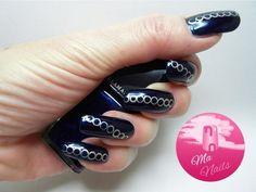 Dark Blue and Gold Nails #nailart - bellashoot.com & bellashoot iPhone & iPad app