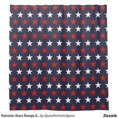 Patriotic Stars Design Shower Curtain