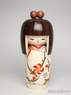 Spring Drea Kokeshi Doll by Kojyo