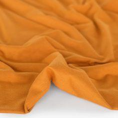 Cotton Modal Jersey Knit - Marigold   Blackbird Fabrics Burnt Orange, Lounge Wear, Bodysuit, Turtle Neck, Knitting, Blackbird, Marigold, How To Wear, Cotton