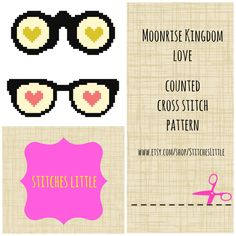 Modern Cross Stitch Pattern - Moonrise Kingdom Love - PDF - Instant Download on Etsy, $3.00