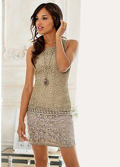 Linea Tesini Lace Front Dress