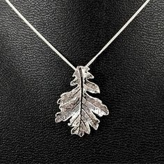 Leaf Necklace, Oak Leaf Necklace, Fine Silver Leaf Necklace, Acorn... ❤ liked on Polyvore featuring jewelry, necklaces, silver leaves necklace, 24 karat gold jewelry, silver jewellery, 24k gold necklace and 24k gold jewelry