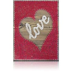 Inverted Red Heart-Love String Art Kit Great gift idea for those crafters you know. Or do-it-yourself for a friend. Beautiful new and creative designs for your