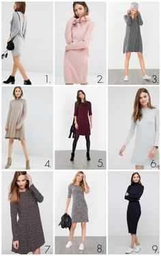 9 perfect dresses for fall!
