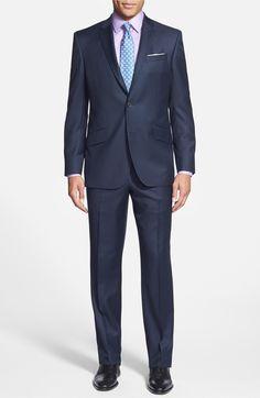 Main Image - Ted Baker London Jones Trim Fit Solid Wool Suit