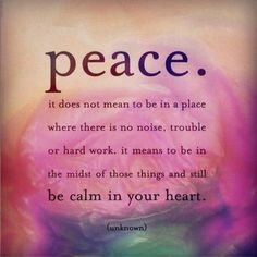 Peace #quote