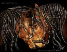 Hearts A Fire  Horse Art  Open Edition Art by concettasdesigns, $15.00