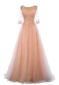 Lace bridesmaid dress, long wedding dress,maxi prom dress, A- line dress, 2016 wedding dress,applique dress