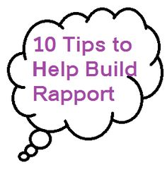 how to build a rapport with a client