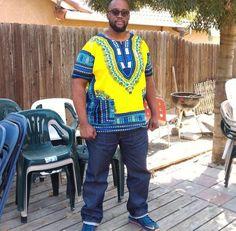 Light Yellow African Dashiki Shirt Only $15