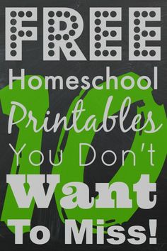 10 Free #Homeschool Printables Sites You Don't Want to Miss from Homeschool Encouragement