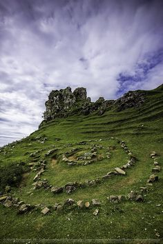Castle Ewen in Fairy Glen, Uig, Isle of Skye, Scotland.