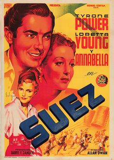 #Suez with #TyronrPower. Art by #Soligó.
