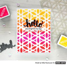 Hello by Kelly Rasmussen for Hero Arts