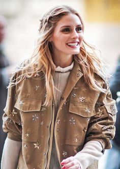 Olivia Palermo's Best Hair Inspiration - Waves - At Paris Fashion Week in March 2016