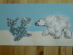Maro's kindergarten: Polar animals crafts #wintercrafts
